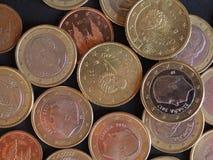 Euro muntstukken, Europese Unie Royalty-vrije Stock Afbeelding