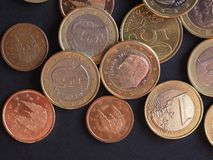 Euro muntstukken, Europese Unie Royalty-vrije Stock Fotografie