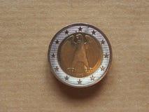 Euro muntstukken, Europese Unie Stock Afbeeldingen