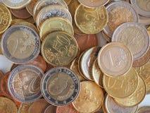 Euro muntstukkenachtergrond Royalty-vrije Stock Foto