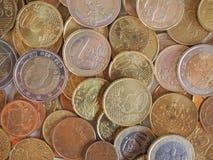 Euro muntstukkenachtergrond Stock Foto's
