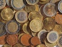 Euro muntstukkenachtergrond Royalty-vrije Stock Fotografie