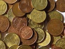 Euro muntstukkenachtergrond Royalty-vrije Stock Afbeeldingen