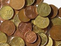 Euro muntstukkenachtergrond Stock Afbeelding