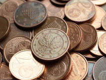 Euro muntstukkenachtergrond Royalty-vrije Stock Afbeelding