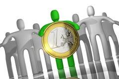 Euro muntstukkenconcept Royalty-vrije Stock Fotografie