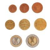 Euro muntstukkenreeks Stock Foto
