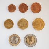 Euro muntstukkenreeks Royalty-vrije Stock Afbeeldingen