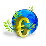 Euro muntsymbool stock foto's
