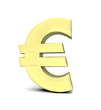 Euro muntsymbool royalty-vrije illustratie