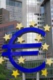 Euro muntteken Stock Foto
