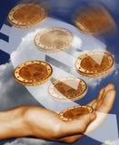 Euro muntvlieg Stock Fotografie