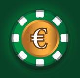 Euro-mynt temadesign för kasinobegrepp Royaltyfria Foton
