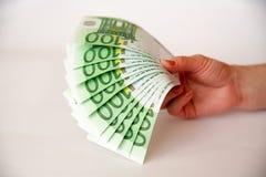 Euro na bielu z ścinek ścieżką Zdjęcia Stock