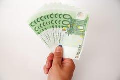 Euro na bielu z ścinek ścieżką Zdjęcie Stock