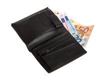 Euro na carteira Foto de Stock Royalty Free