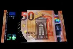 euro 50 na noite Fotos de Stock Royalty Free