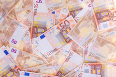 50 Euro, nahtloser Hintergrund Stockfotografie