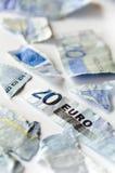 Euro nelle parti Immagine Stock