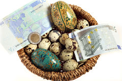 Euro nest egg from above Royalty Free Stock Image