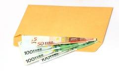 EURO no envelope imagem de stock royalty free