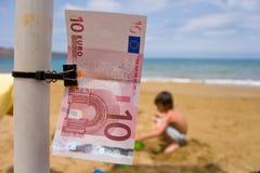 Euro no feriado Imagens de Stock