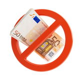 Euro no financial crisis. On a white background Stock Image