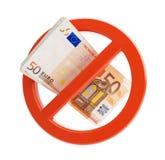 Euro no financial crisis Stock Image
