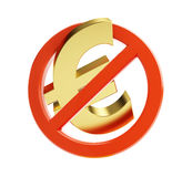 Euro no financial crisis. On a white background Royalty Free Stock Photography