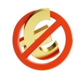 Euro no financial crisis Royalty Free Stock Photography