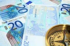 Euro no horiz 2 do curso Fotografia de Stock Royalty Free