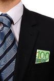 Euro no terno. imagem de stock royalty free