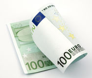 Euro- nota de banco Fotografia de Stock