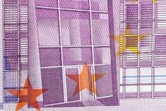 Euro- nota de banco Imagens de Stock Royalty Free