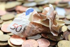 Euro nota fifthy Trashy Immagini Stock Libere da Diritti