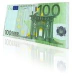 Euro nota met bezinning Royalty-vrije Stock Afbeelding
