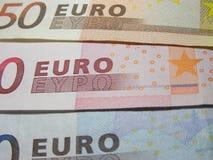 Euro nota's Stock Afbeelding
