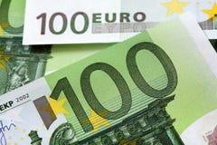 100 euro nota's Stock Afbeeldingen