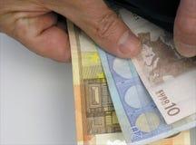 Euro nota's Royalty-vrije Stock Afbeelding