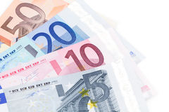 Euro nota's Stock Foto