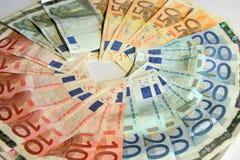 Euro nota's Royalty-vrije Stock Foto's
