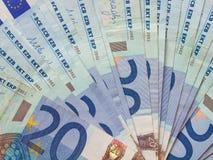 20 euro nota's Royalty-vrije Stock Fotografie