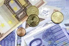 Euro nota's en Stock Afbeeldingen