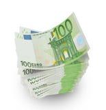 Euro nota's met bezinning Royalty-vrije Stock Foto