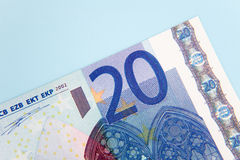 Euro nota twintig Royalty-vrije Stock Fotografie