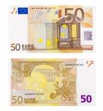 Euro nota vijftig Stock Foto's