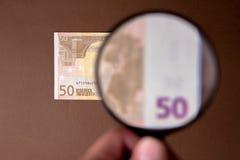 Euro Nota vijftig Stock Foto