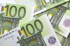 100 euro- notas Imagem de Stock Royalty Free