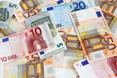 Euro- notas com reflexão fotos de stock
