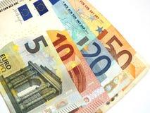 Euro- notas com reflexão Fotografia de Stock